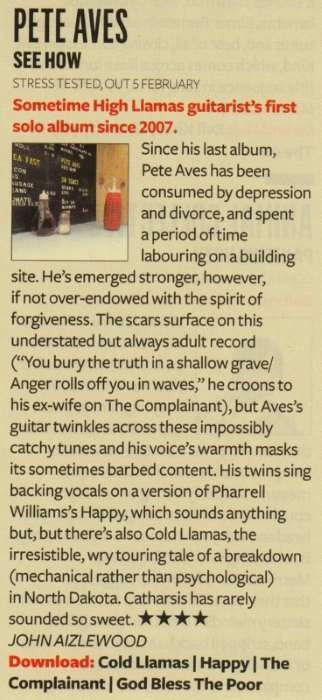 pete aves review q magazine